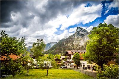 Neighborhood in Oberammergau.