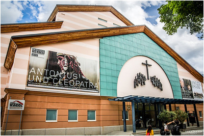 Passion Play Theater. The Passion Play actors can only be from Oberammergau.