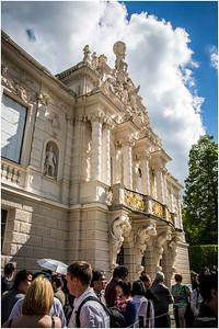 Entrance to Schloss Linderhof.