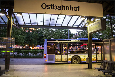 Ostbahnhof bus station is a few minutes from our accommodations with Ms. Frauke Krampitz who is part of Charlotte's Bed & Breakfast.