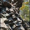 Columnar jointing of Catoctin metabasalt<br /> Compton Peak Trail off of Skyline Drive<br /> Shenandoah, NP