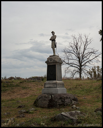 One of 1700 monuments at the Gettysburg National Battlefield.  This one is a tribute to the soldiers of Orange County, New York.