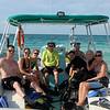 Dan Baker, Jamie Sedor (Dan and Kim's friend),  Andrea Leask, Jim Leask, ? European Dive Master, Emilio B (Sweden),Cyndi Yates, Kim Baker