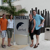 April 5 - Viv and Roy's hotel appartment (Ixchel Beach Hotel)