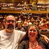 Dave and Bobbie at the Penn & Teller theatre in the Rio