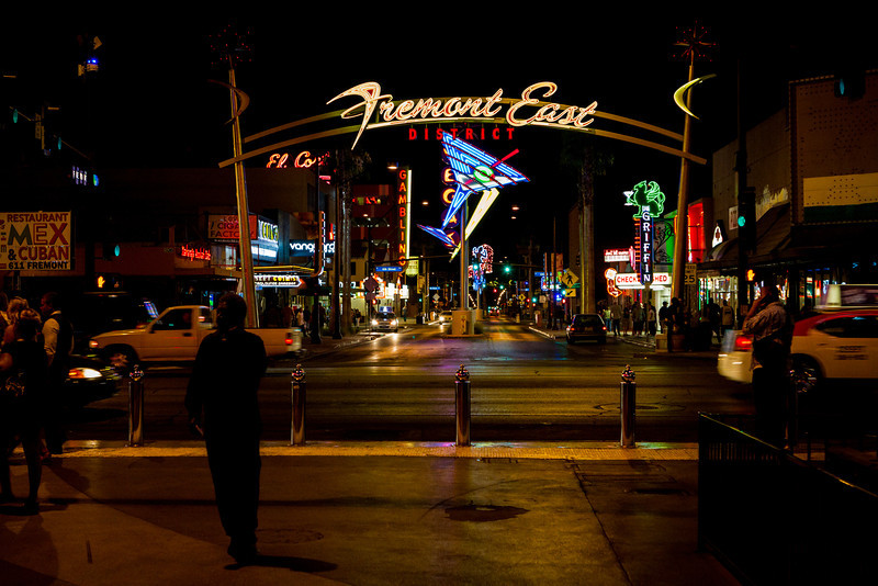 Fremont East District with many pieces from the Neon Museum