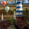 The lighthouse at the Bellagio Conservatory