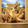 A fountain and statues inside Ceasar's Palace