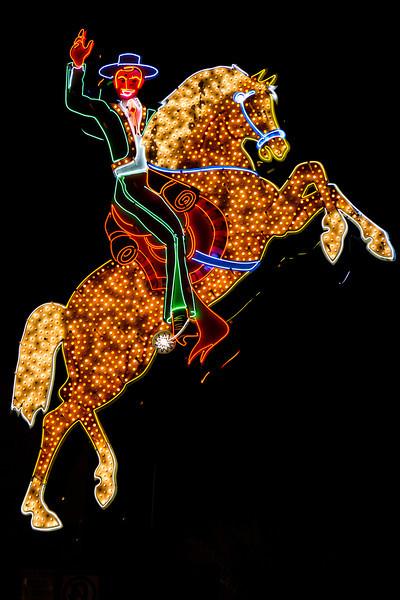 Neon Museum: Hacienda Horse and Rider from the Hacienda Hotel