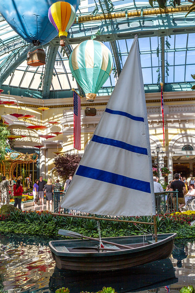 Sail boat at the Bellagio Conservatory
