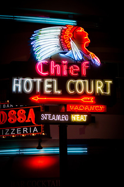 Neon Museum: Chief Hotel sign
