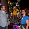 Dave and Boobie with a costumed performer at the Venetian