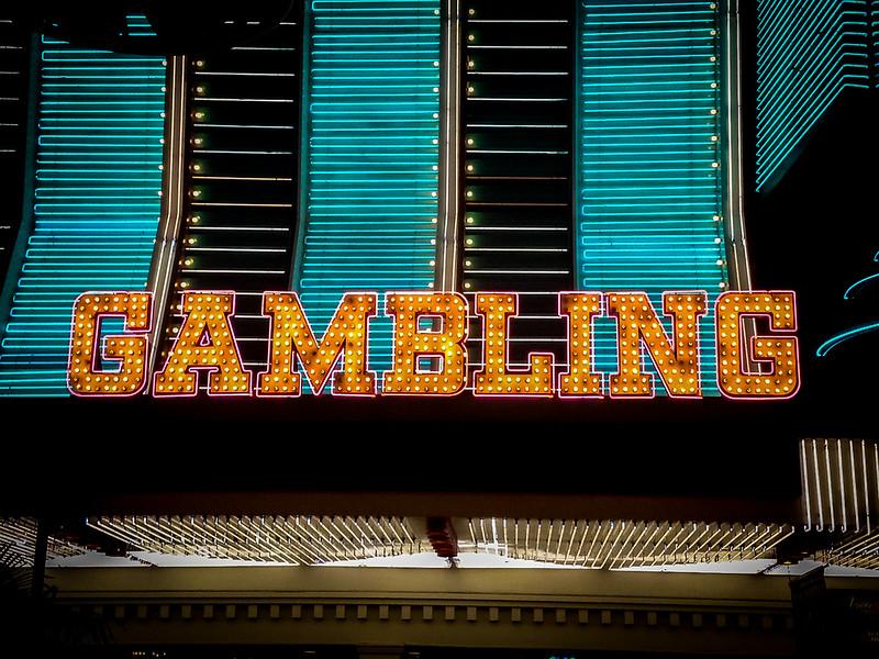 Gambling sign on Binions