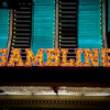 Gambling sign on Binions