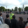Crowd control at the Changing of the Guards.