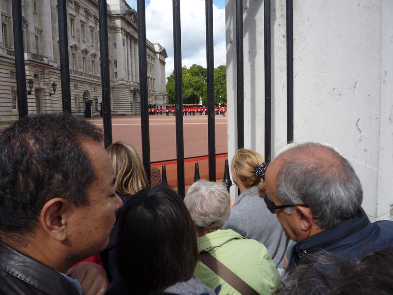 Mom trying to get a view of the Changing of the Guards.