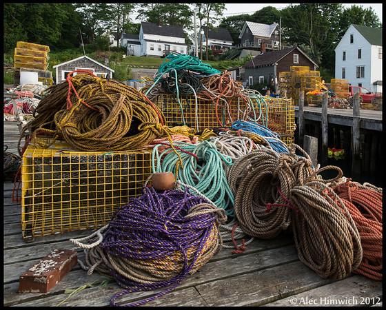 Lobster fishing gear<br /> Public landing<br /> <br /> Friendship, Maine