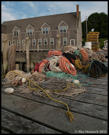 Lobster fishing gear<br /> Public landing<br /> <br /> Friendship, Maine