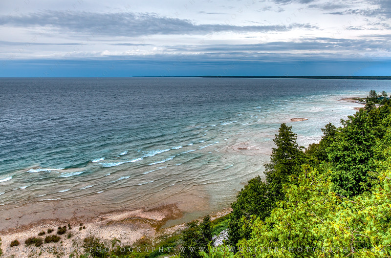 The amazing view of (and through) Arch Rock on Mackinac Island.