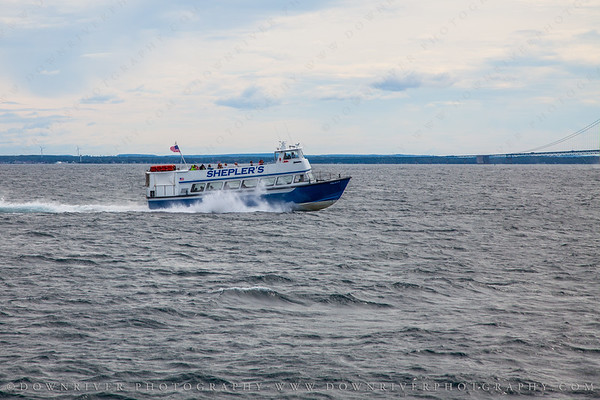 One of the ferrys from St. Ignas to Mackinac Island (we were on a competing craft)