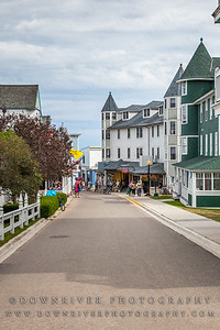 One of the many gorgeous streets on Mackinac Island, MI