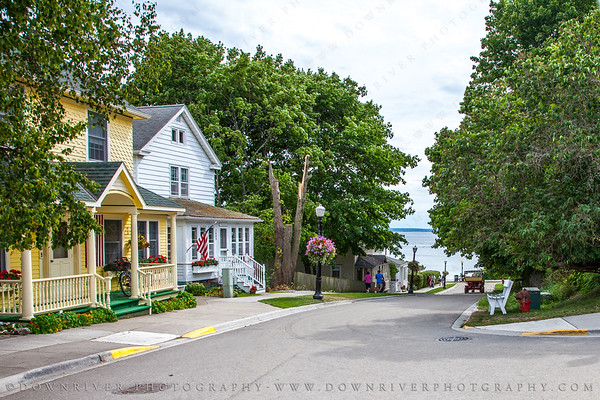 One of the many gorgeous streets of Mackinac island, MI