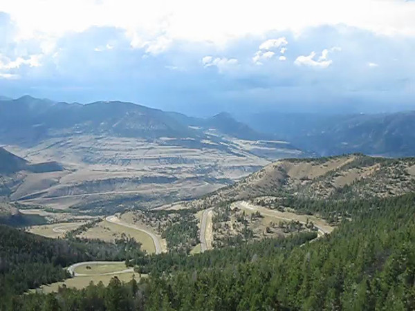 VIDEO: Top of Chief Joseph Hwy switchbacks