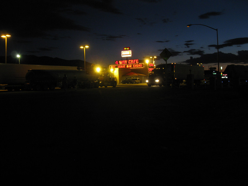 """The """"4 Way Cafe"""" where we ate. Truck stop."""
