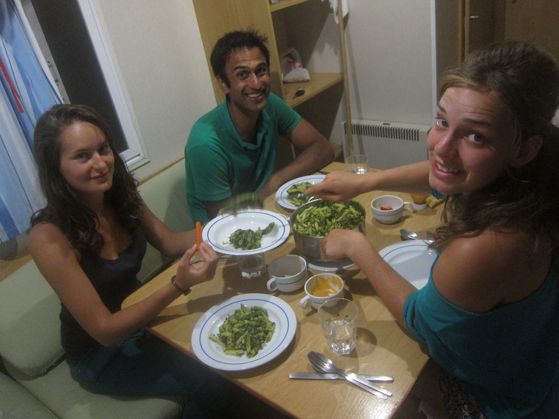 Home cooked dinner by Kristien and Chiara