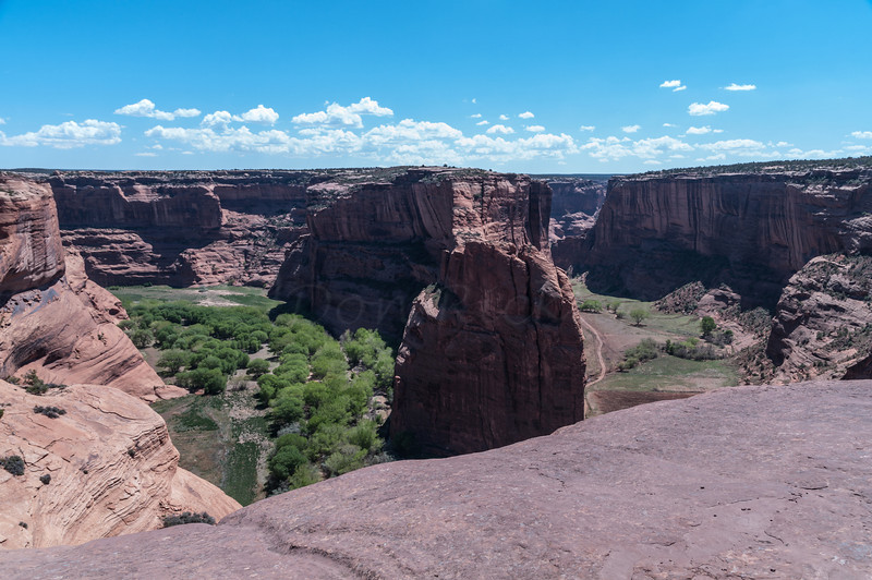 The Junction of Canyon del Muerto (on left) and Canyon de Chelly in Arizizona
