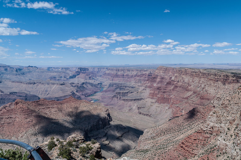 The eastern section of the Southern Rim from Lipan Point with a view of the Colorado RIver.