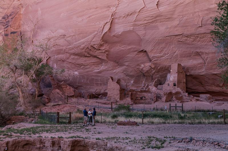Sliding House Ruin, Canyon de Chelly with some petroglyphs.