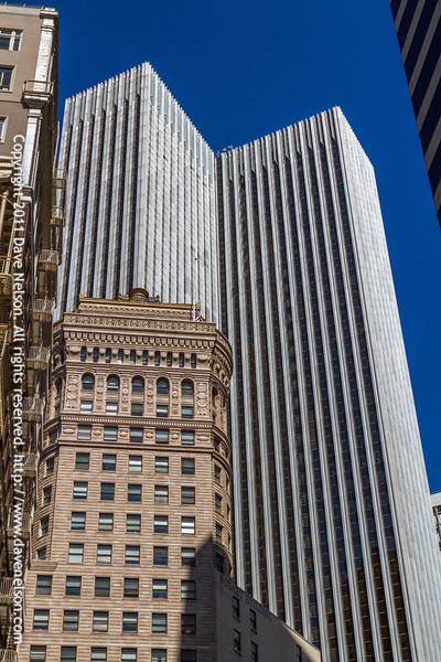 Contrasting buildings in San Francisco