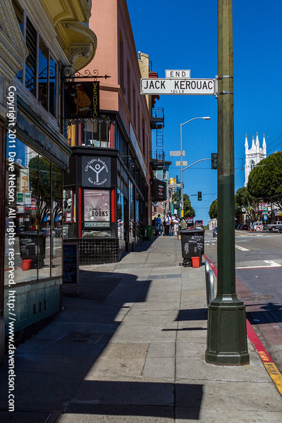 """End"" Jack Kerouac street sign in San Francisco"