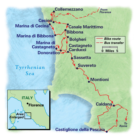 Tuscany Coast Bike Tour. June 2012.