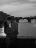 Many couples seem to get the urge to kiss in Florence.