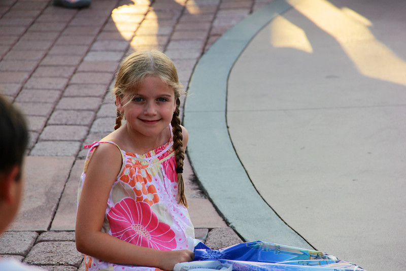 Maggie enjoys street concert at Downtown Disney