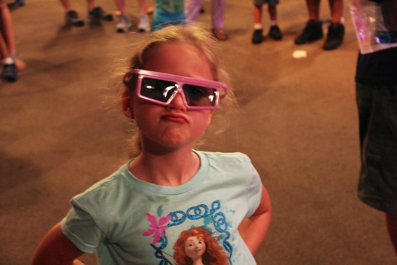 Rockin' the 3-D glasses