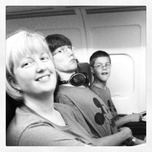 On the flight from Wichita to Atlanta