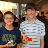 Jacob and Paul with their LEGO creations