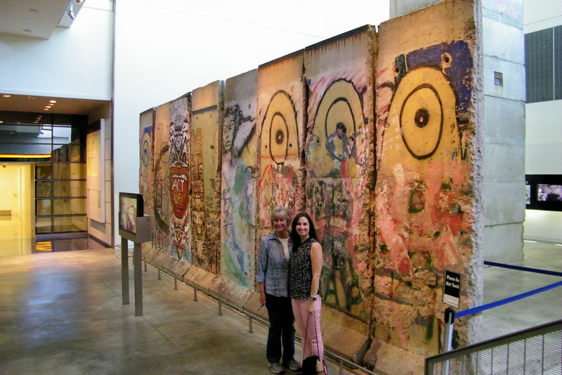 Sections of the Berlin Wall at the Newseum.
