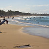 The casual mid-Sunday croud at Main Beech on Noosa, a resort town 100km north of Brisbane.