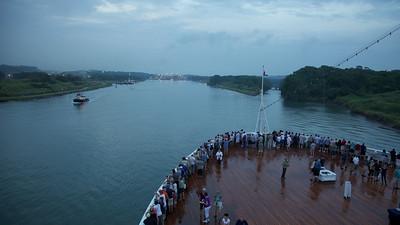 Pre-Dawn approaching the Panama Canal
