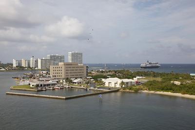 Maasdam Leaving Fort Lauderdale