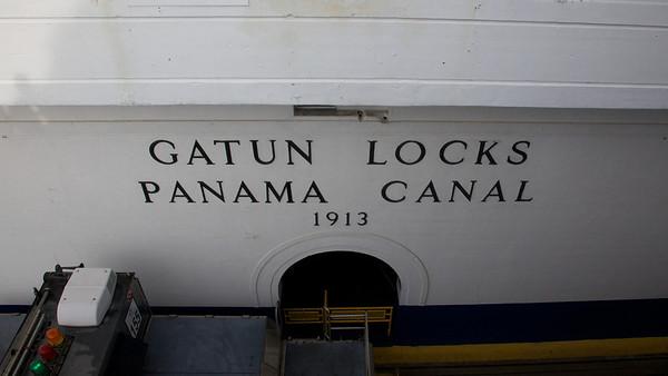 Gatun Locks Sign