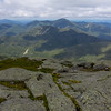 The view northwest from Mt. Marcy Peak, towards Big Slide Mountain and Algonquin Peak.