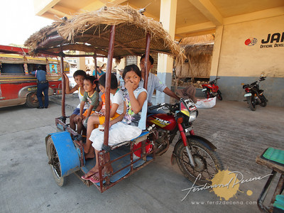 Sabtang Tricycle with locals kids