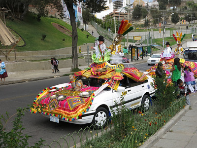 Street festival, La Paz