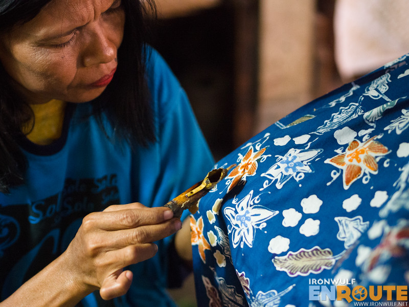 Modern and commercial batik now uses different colors