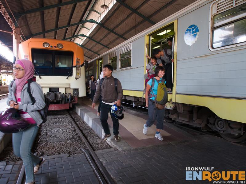 Prameks Train arriving at Solo Balapan Station